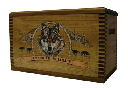 Evans Sports TC19-80 Ammo/Accessory Case with Shaped Top - Color Wildlife Wolf
