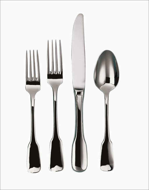 079914-15005-7 Alsace 5 Piece Place Setting - Heavyweight - 18-10 Stainless - Mirror Finish