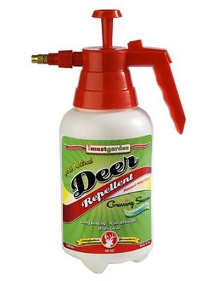 I Must Garden DG48 Deer Repellent - Growing Season Formula 48oz Ready to Use  Refillable Pump Spray