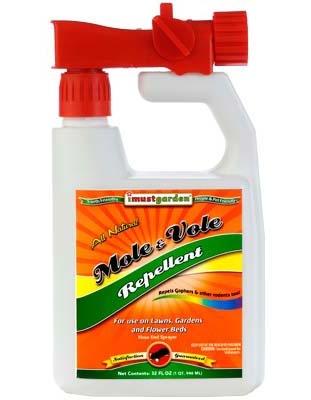 I Must Garden MVH32 Mole and Vole Repellent - 32oz Hose End Sprayer