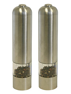 iTouchless PM001C Automatic Peppermill Stainless Steel - 2 Pack