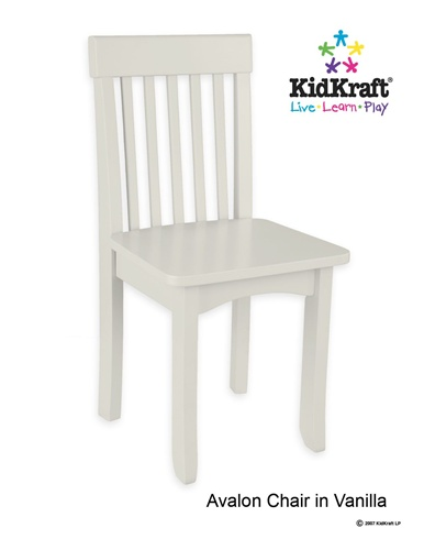 Kid Kraft 16634 Avalon Chair- Vanilla