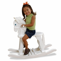 Kid Kraft 19601 Derby Rocking Horse - White