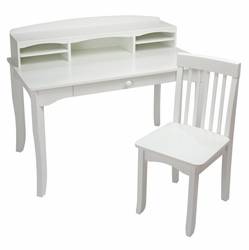 Kid Kraft 26705 Avalon Desk with Hutch - White
