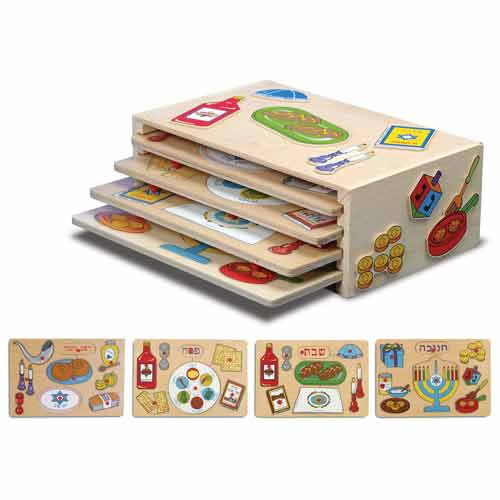 Kid Kraft 63048 Holiday Puzzle Set - 4-Pack