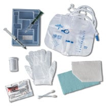 Latex Gloves - MEDLINE INDUSTRIES DYND11020H Universal Foley Insertion Trays - With 10cc Water Syringe For 5cc Catheters - Anti-reflux Device With Vinyl Gloves Latex-free
