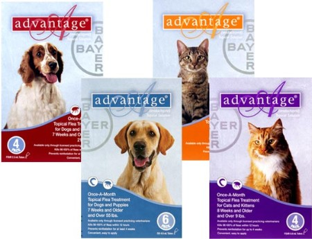 Advantage RED-55-6 Advantage - For Dogs And Puppies 21-55 Lb