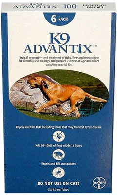 Image of Advantix ADVX-BLUE-100-4 4 Month Supply of Advantix For Dogs Over 55 Lbs.