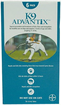 Image of Advantix ADVX-TEAL-20-6 6 Month Supply of Advantix For Dogs 10- 20 Lbs