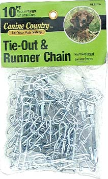 Tie Chain - American Leather AL22100 Medium Weight Tie Out And Runner Chain 10Ft