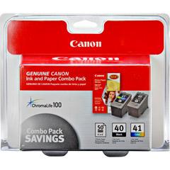 CANON PG-40 CLI-41&Glossy Photo Paper ComboPk 0615B009