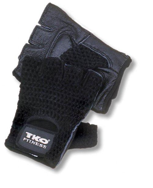 Workout Gloves - TKO 300M-BK-L Men's Mesh Back Extreme Workout Glove Black Large