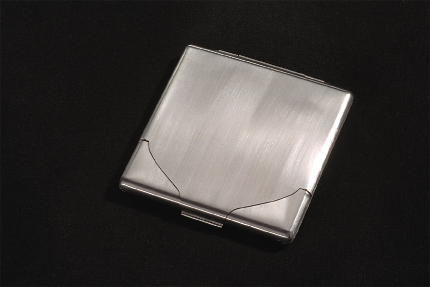 Zack 40613 Cigarette case for 10 cig. Stainless Steel