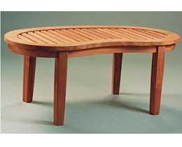 Anderson Teak TB-004KT Kidney Table Curve Table