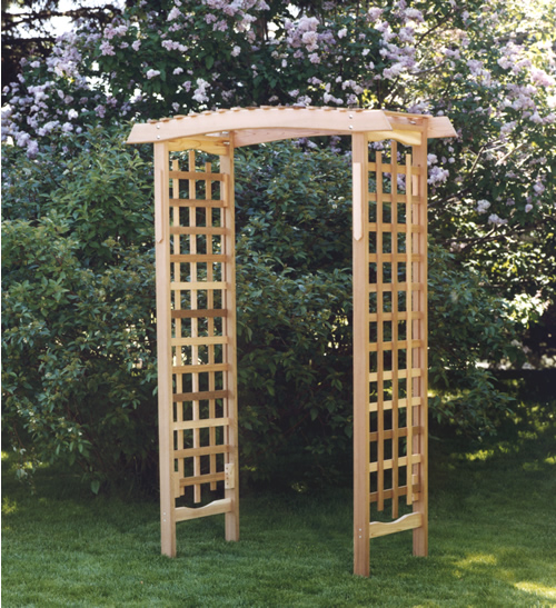 All Things Cedar GA87U Garden Arbor - All Things Cedar - Unassembled Arbor, Arch, Garden Arbor, Garden Arch, Arbors, Archway, Arches, Garden Structures, Pergola, Lattice