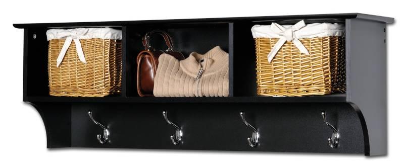 Prepac BEC-4816 Black Cubbie Shelf for Entryway