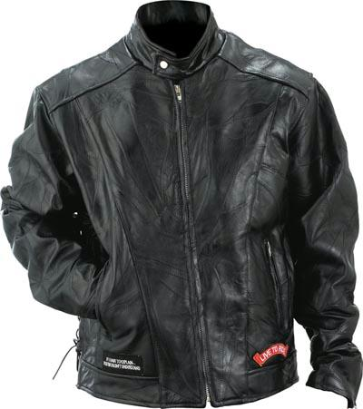 Motorcycle Leather Jackets - Diamond Plate Buffalo Leather Motorcycle Jacket GFCRLTRL