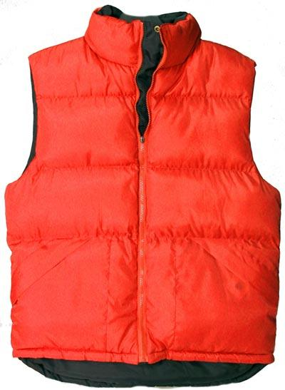 Outerwear Vest - X60 Outerwear Unisex Polyester Red Vest GFPVRXL