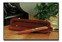 Genuine Rosewood Ballpoint Pen in wood gift box from the Hanover Collection by Alex Navarr GFWD2