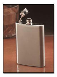 Maxam Stainless Steel 4oz Hip Flask with screw down cap KTFLASK4