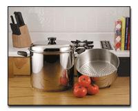 Precise Heat 24qt 9Element Waterless Stock Pot with Deep Steamer Basket