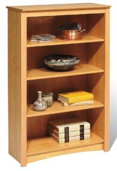 Prepac MDL-3248 Maple 4-shelf Bookcase