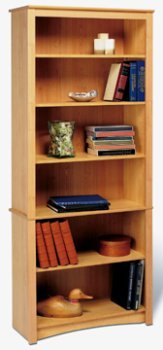 Prepac MDL-3277 Maple 6-shelf Bookcase