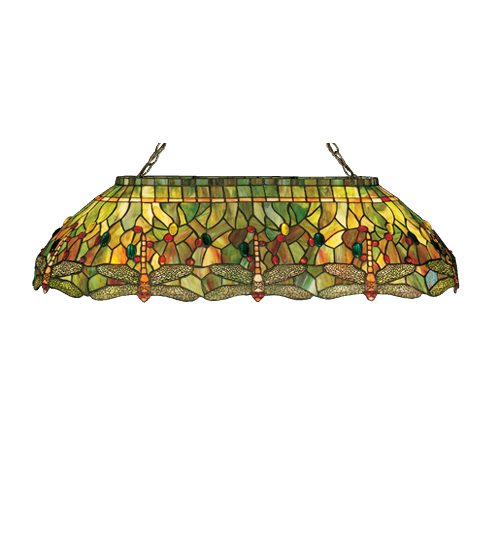 Meyda Tiffany 26544 40 Inch L Hanginghead Dragonfly Oblong Pendant