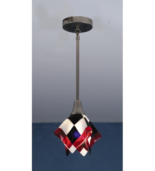 Meyda Tiffany 82475 9 Inch W Tia Mia Handkerchief Fused Glass Mini Pendant