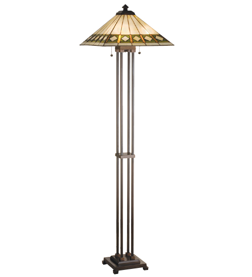 Meyda Tiffany 17385 63 Inch H Diamond Mission Floor Lamp
