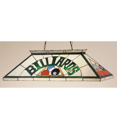 Meyda Tiffany 47976 39 Inch L Billiard & Rack Oblong Pendant