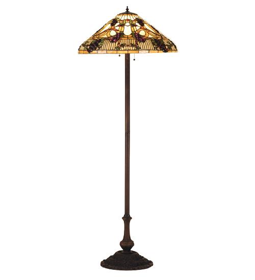Meyda Tiffany 55961 64 Inch H Jeweled Grape Floor Lamp