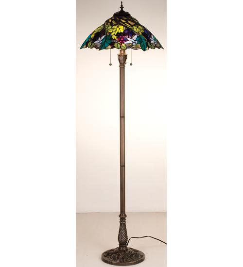 Meyda Tiffany 99339 64.5 Inch H Spiral Grape Floor Lamp