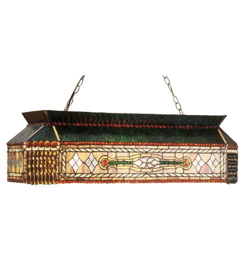Meyda Tiffany 50159 40 Inch L Gold Fringe Oblong Pendant