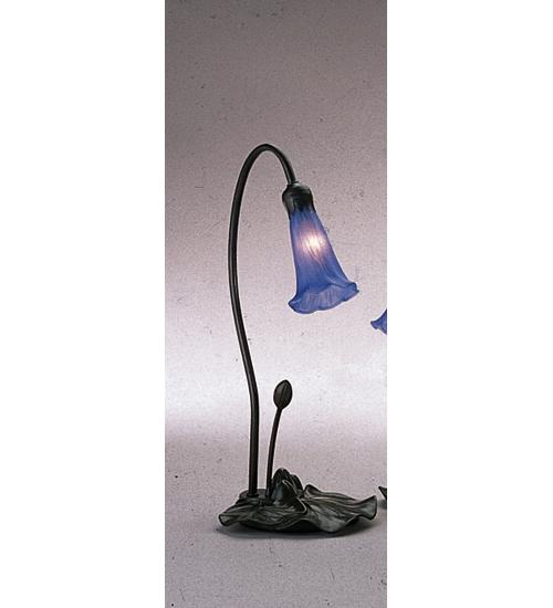 Meyda Tiffany 12500 16H Pond Lily 1 Light Accent Lamp - Blue