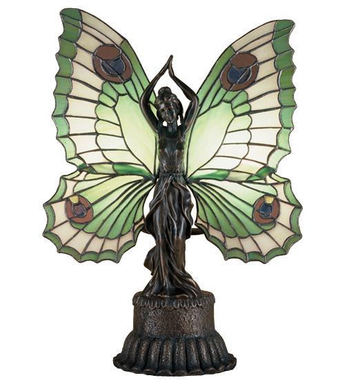 Meyda Tiffany 48019 17 Inch H X 13 Inch W X 6 Inch D Butterfly Lady Accent Lamp