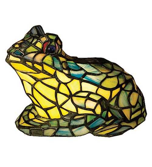 Meyda Tiffany 16401 7 Inch H X 11 Inch W X 10 Inch D Tiffany Frog Accent Lamp