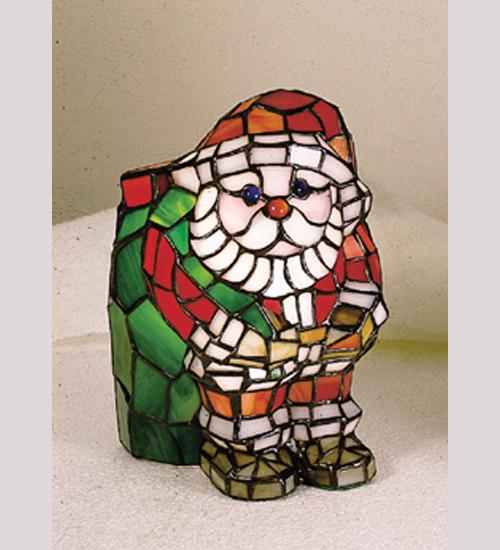 Meyda Tiffany 17241 9 Inch H X 6 Inch W X 7 Inch D Tiffany Santa Accent Lamp
