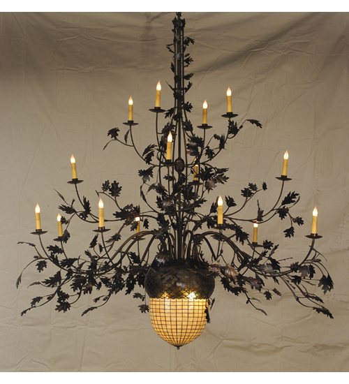 Meyda Tiffany 19061 100 Inch W Acorn & Oak Leaf 16 Arm Chandelier