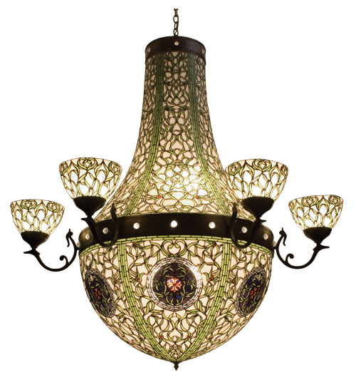 Meyda Tiffany 38465 60 Inch W Tulip Medallion 6 Arm Chandelier