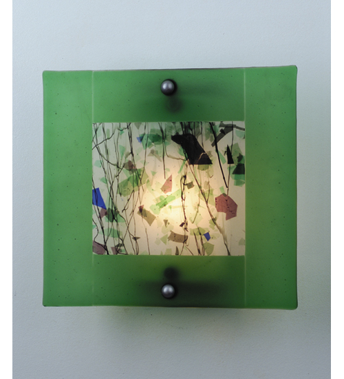 Meyda Tiffany 82468 12 Inch W Springtime Of My Youth Fused Glass Sconce