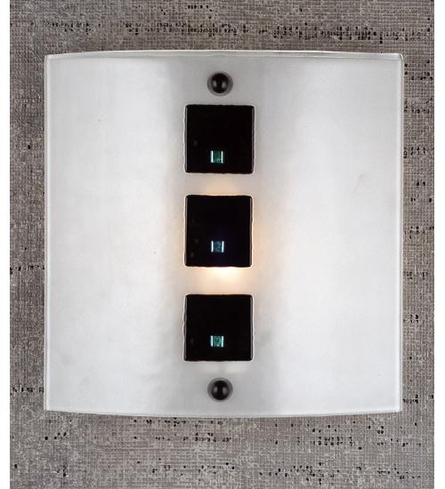 Black Tie Affair - Meyda Tiffany 98157 11 Inch W Black Tie Affair Fused Glass Wall Sconce