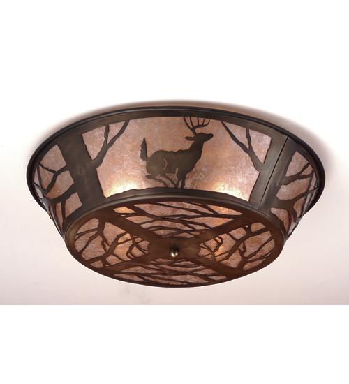 Meyda Tiffany 51233 22 Inch W Deer Flushmount