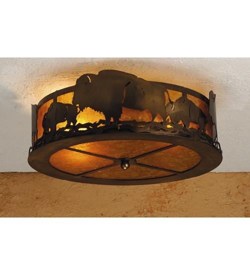Meyda Tiffany 51498 16 Inch W Buffalo Flushmount