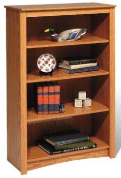 Prepac ODL-3248 Oak 4-shelf Bookcase