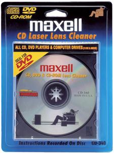 MAXELL 190048 CD/CD-ROM/DVD Laser Lens Cleaner 190048