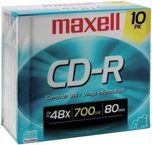 MAXELL 622860/648210 80-Minute/700 MB CD-R 622860/648210