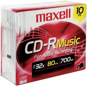 MAXELL 625133 Music CD-R 10-pk 625133