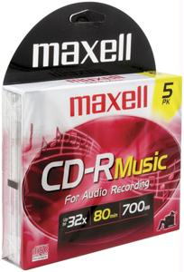 MAXELL 625132 Music CD-R 5-pk 625132