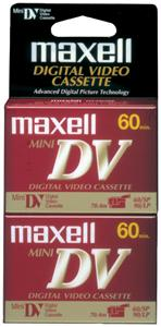 MAXELL 298012 Mini Digital Video Tape 60 min 2-pk 298012